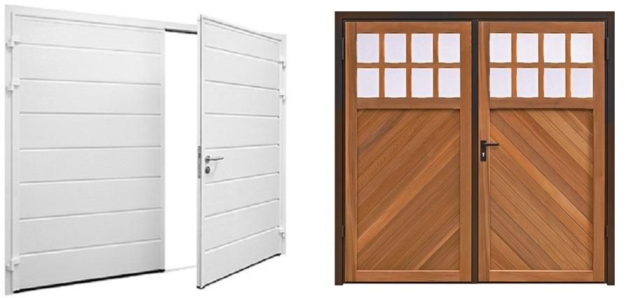 gds cumbria side hinged garage door range